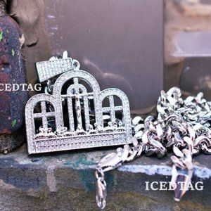 Other - Iced XL Size Last Supper Pendant, Cuban Chain Set